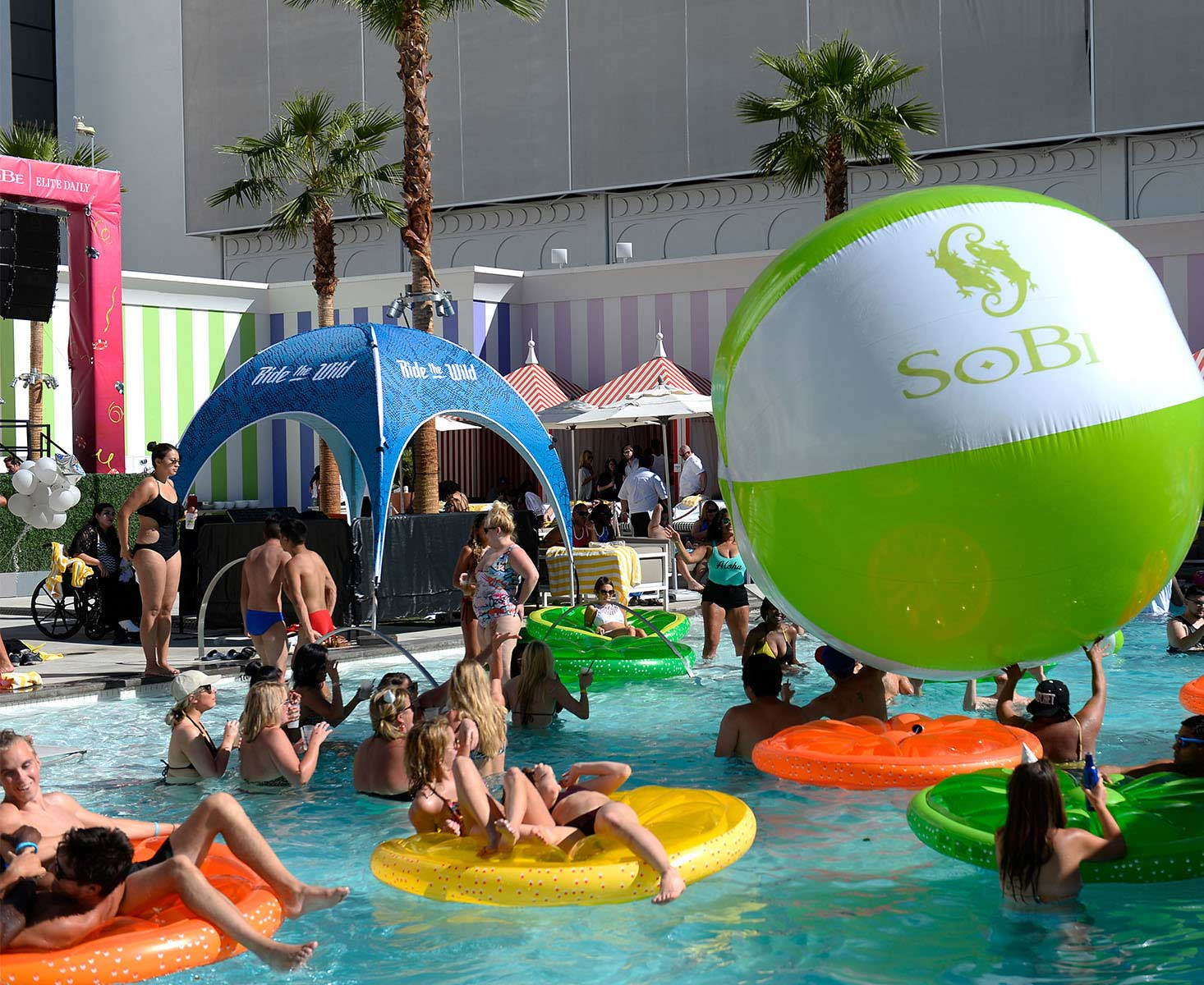 sobe pool party brand activation